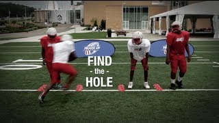 2 Minute Drill Find The Hole, Running Back Drill