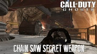 COD: Ghosts - CHAIN Saw Secret Campaign Weapon (Location & Gameplay)