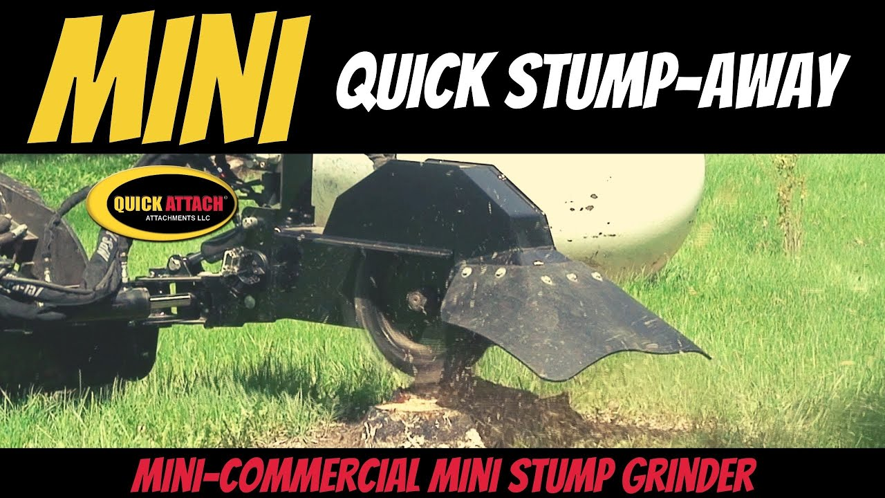 Quick attach mini skid steer stump grinder attachment youtube