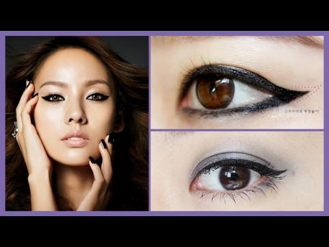 The Perfect Winged Eyeliner Tutorial using Gel liner &amp; Felt Tip Pen Eyeliner for beginners