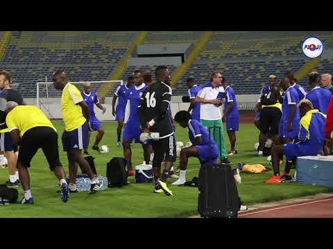 هكذا استعد منتخب الغابون على أرضية ملعب محمد الخامس