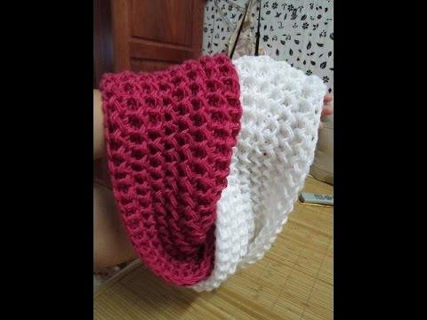 Hướng dẫn đan khăn kiểu xương cá