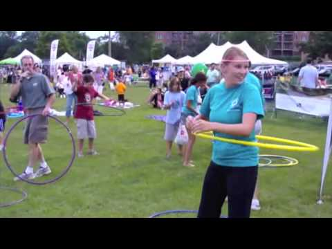 Hula Hoop Contest at 2010 Family Fest in La Grange, Illinois
