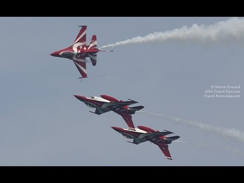 Flying Display Rehearsal Highlights at Singapore Airshow 2014 - HD