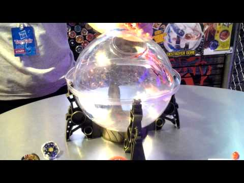 Beyblade Destroyer Dome Demo - Toy Fair 2012