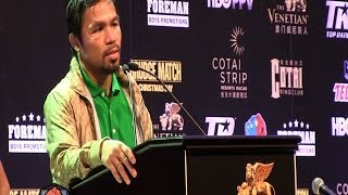 Manny Pacquiao Vs. Brandon Rios Full Post Fight Press
