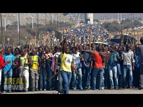 80,000 South African Platinum Miners Strike For A Living Wage