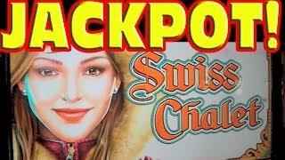Swiss Chalet MASSIVE HAND PAY JACKPOT Slot Machine Mega