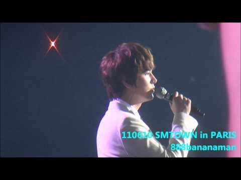 [fancam] 110610 SMTOWN in Paris Kyuhyun & Seohyun  『Way Back Into Love』 Forcus Kyuhyun