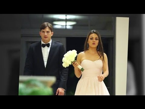 Bridesmaid Mila Kunis Looks Gorgeous With Ashton Kutcher at Her Brother's Wedding