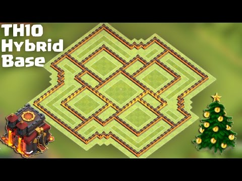 Town Hall 10 (TH10) Hybrid Base [Farming after Big Update] - Protect TH/Storages