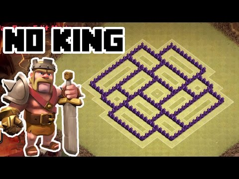 CLASH OF CLANS - Town Hall 7 Trophy Base DEFENSE & TH7 War Base Without KING