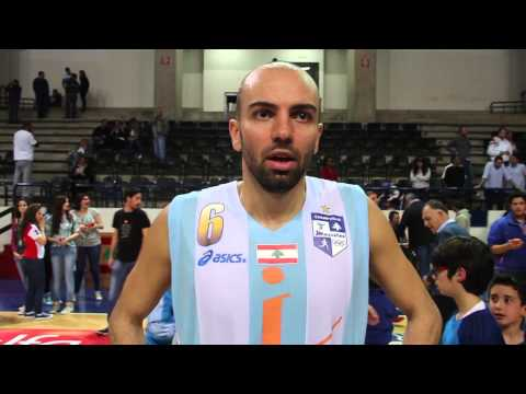 Post game interview with Sabah Khoury  - Champville vs Mouttahed