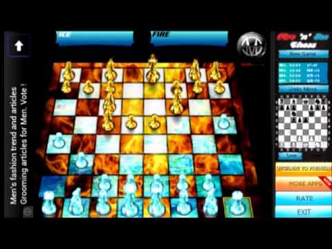 Download and play android gameplay fire and ice chess on your smart mobile phone 2013 HD