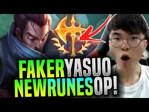 FAKER Plays YASUO with the NEW RUNES and it's BROKEN! ( YASUO CONQUEROR KEYSTONE ) | SKT T1 Replays