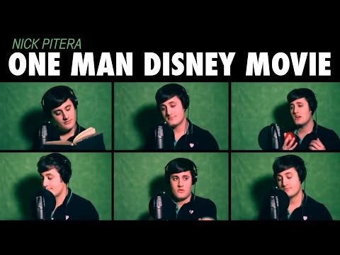 One Man Disney Movie Nick Pitera Disney Medley Music Video