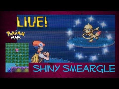 Live shiny Smeargle! (Shiny patch) Pokémon Pearl