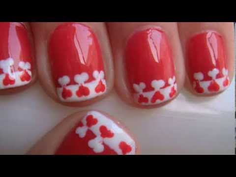 easter designs for nails. Heart French Tip Nail Design