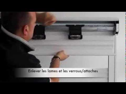 changer le tablier lames de volet roulant youtube. Black Bedroom Furniture Sets. Home Design Ideas