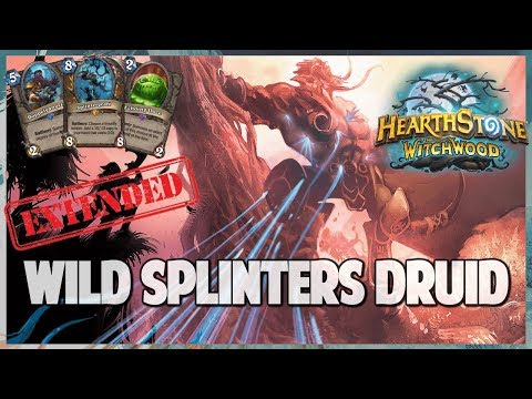 Wild Splinters Druid | Extended Gameplay | Hearthstone | The Witchwood
