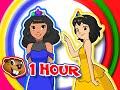 """Princess Christmas"" | 1 Hour Kids HD Animation | Frozen Elsa Princess, Teach Learn Colors & Shapes"