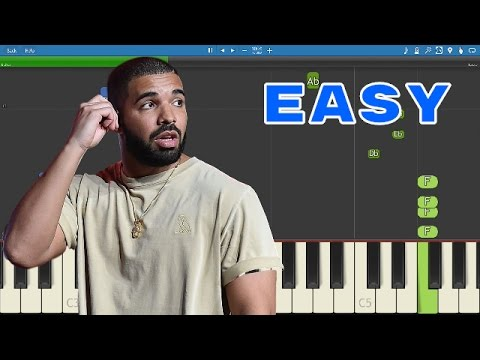 Drake - Controlla - Piano Tutorial - How to play Controlla - EASY