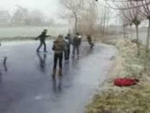 Ice soccer (funny moment at the end)