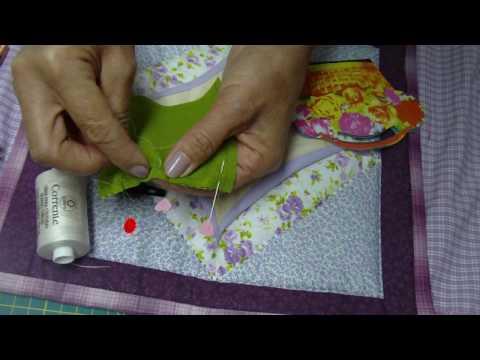 Patchwork PatchAula  Materiais  agulhas linha   costura arremate Rose Becker