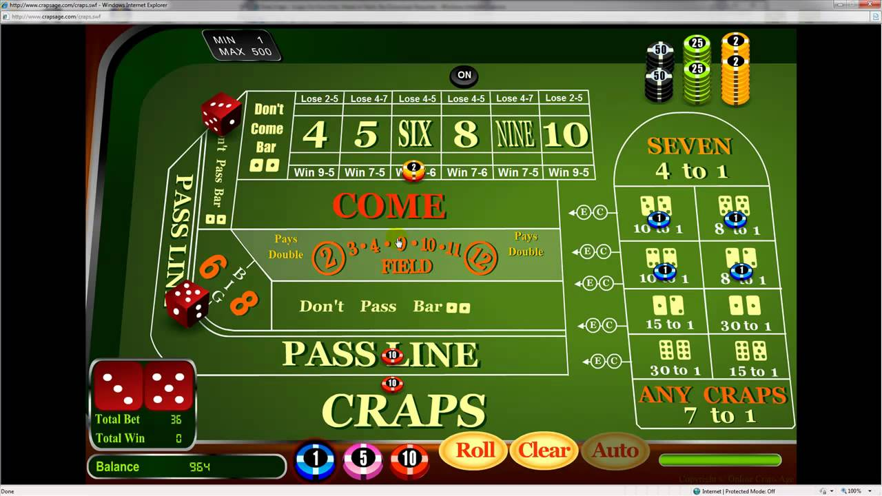 how to play dice in the casino