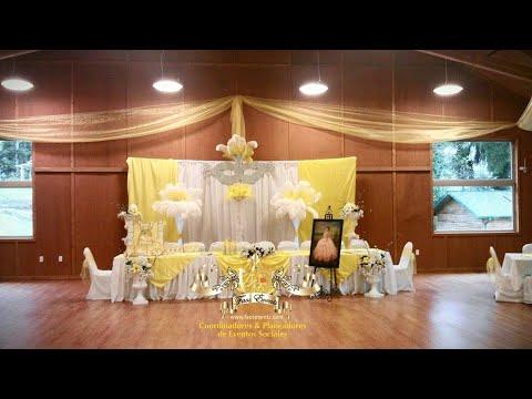 Faos events decoracion color amarillo y plata youtube - Decoracion en amarillo ...