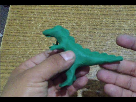 Como hacer un dinosaurio de plastilina / How to make a dinosaur with plasticine - step by step