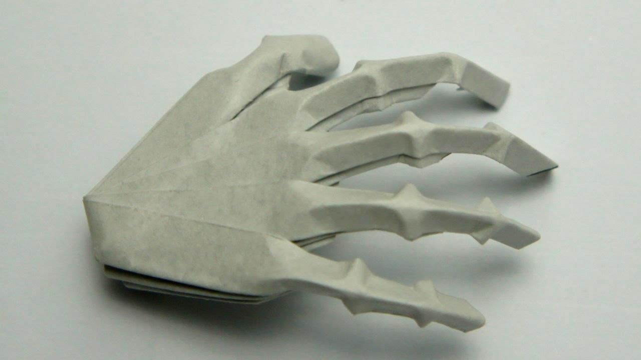origami hand skeleton jeremy shafer youtube
