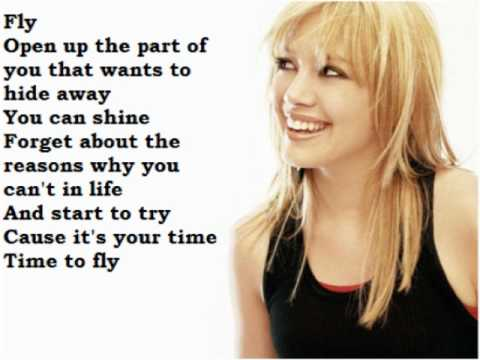 Hilary Duff - Fly (Lyrics on screen) - YouTube Hilary Duff Lyrics