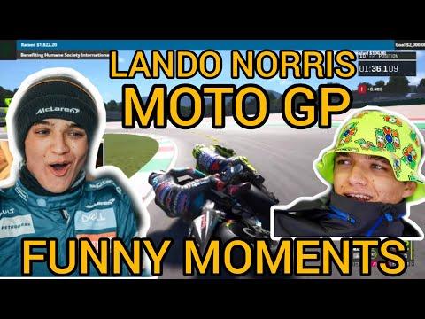 LANDO NORRIS FUNNY MOMENTS WHEN PLAY MOTOGP GAME
