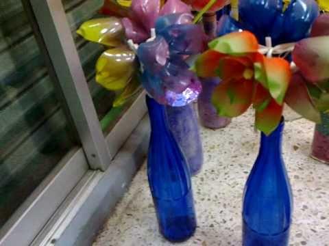 Flores de plastico reciclado youtube - Flores de plastico ...