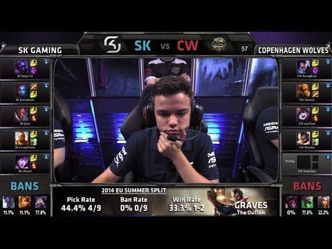SK Gaming vs Copenhagen Wolves | S4 EU LCS Summer split 2014 SuperWeek 1 Day 2 | SK vs CW W1D2 G4