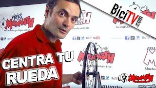 Centrar una rueda de bicicleta