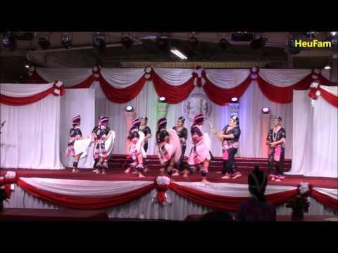 Fresno Hmong International New Year 2016 - 2017 : Dance Comp. RD 1  - Nkauj Hmoob Hli Nra