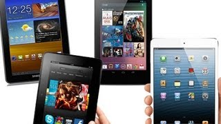 IPad Mini Vs. Nexus 7, Galaxy Tab 7.7 & Kindle Fire HD