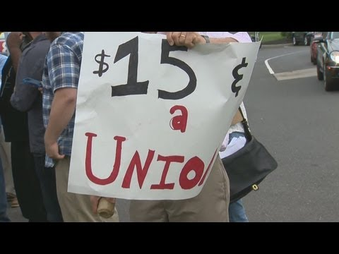 Hartford fast food workers join national strike
