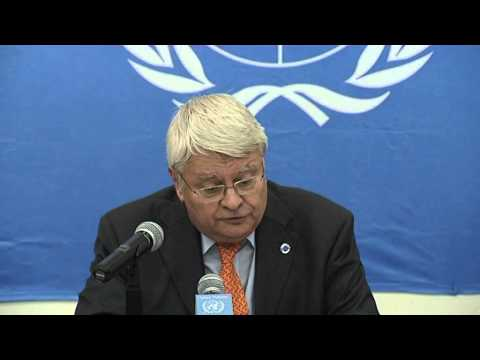 UN USG Herve Ladsous Press Conference in Bangui CAR