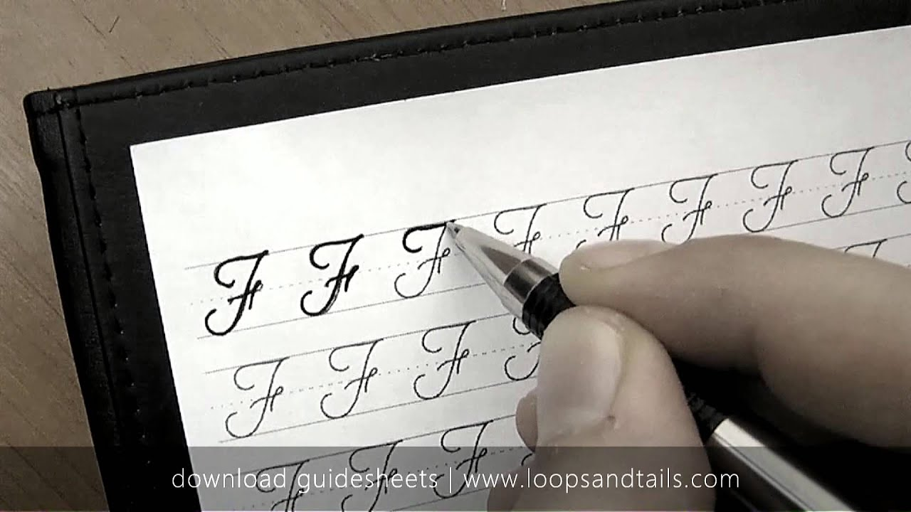 how to write a capital f in cursive Teachers can teach cursive writing during the ela block in writer's workshop the type of font used for cursive instruction should be determined by the local district.