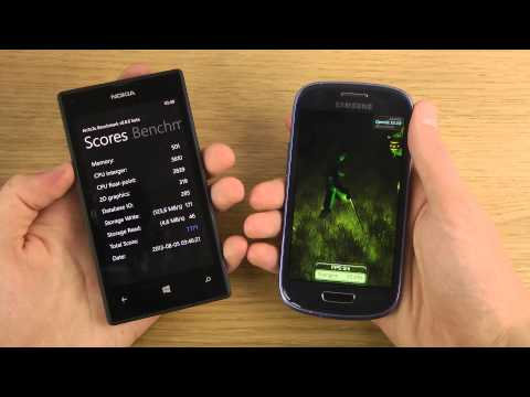 Nokia Lumia 520 vs. Samsung Galaxy S3 Mini - Benchmark Speed Performance Comparison Review