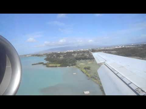 hawaiian airlines flight 145 landing in HNL from OGG