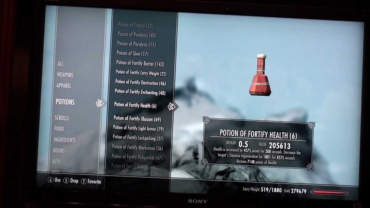 Thanks for everyone contributing to skyrim potion of