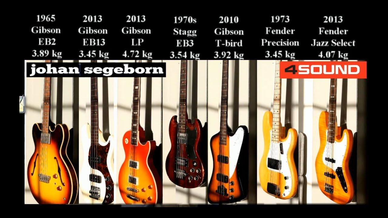 7 Bass Shootout  Jazz Vs Precision Vs Thunderbird Vs Eb-2 Vs Eb-13 Vs Eb-3 Vs Les Paul