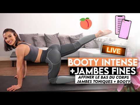 BOOTY INTENSE + JAMBES FINES 🍑🔥 brûle-graisses, jambes affinées & galbe booty !
