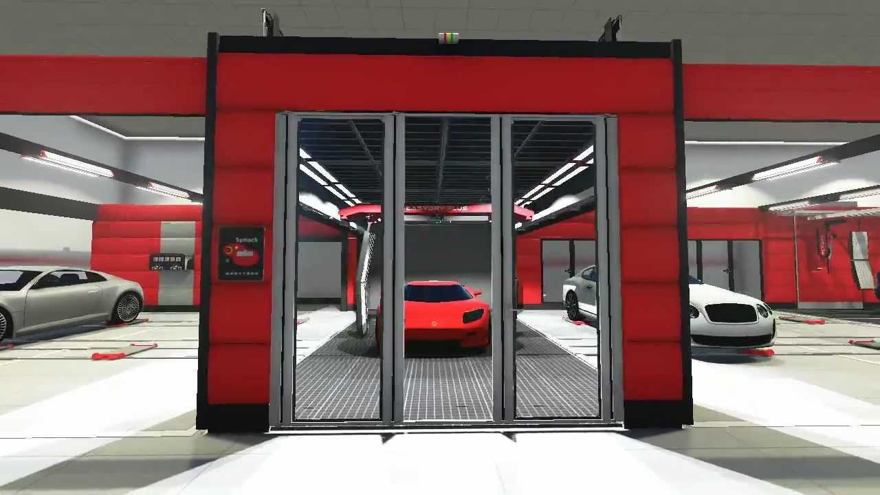 3d walkthrough automotive repair facility youtube for Auto repair shop layout design