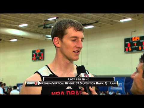 Cody Zeller at the NBA Draft Combine 2013