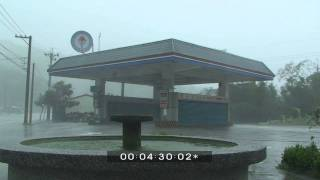Typhoon Morakot Flying Debris Extreme Weather Stock Footage Screener HDV 50i